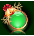 web button with christmas bells vector image vector image