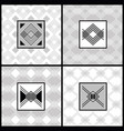 white and gray modern art deco patterns set vector image vector image
