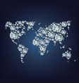 world map made as lot of expensive diamond vector image vector image