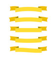 Yellow ribbon banners set beautiful blank