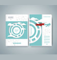 design of magazine cover with airplane flying vector image