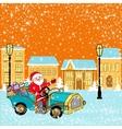 Santa in town vector image