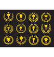 Champions trophy icons vector image