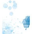 Watercolor splash abstract background vector image