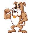 Bulldog Cartoon Mascot Character vector image