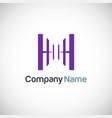 shape letter h logo vector image