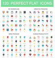 120 modern flat icon set of workplace creative vector image vector image