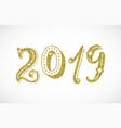 2019 golden glitter lettering inscription modern vector image vector image