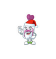a picture santa purple potion with ok finger vector image vector image