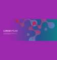 banner background with abstract connected shapes vector image vector image