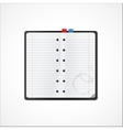 Blank notebook for records vector image vector image