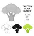 broccoli icon cartoon singe vegetables icon from vector image vector image