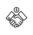 business agreement icon linear vector image vector image