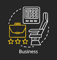 business class chalk icon passenger seat in vector image