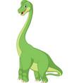 cartoon brachiasaurus vector image vector image