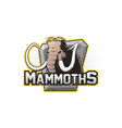 cartoon emblem of mammoth vector image