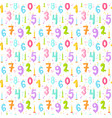 celebratory seamless pattern with confetti and vector image