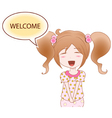 Cheerful girl vector image vector image