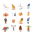Circus flat icons vector image