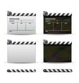 clapper board set of movie clapper board vector image vector image