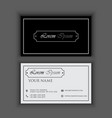 classic vintage creative and clean business card vector image