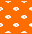 cloud with skull and bones pattern seamless vector image vector image