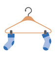 colorful silhouette of pair of socks in clothes vector image vector image