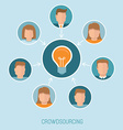 crowdsourcing concept in flat style vector image vector image