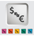 Currency exchange vector image vector image