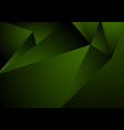 dark green abstract concept polygonal tech vector image vector image