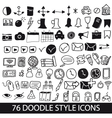 doodle style icons vector image vector image