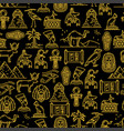 egyptian seamless pattern ancient gods egypt vector image