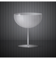 Empty Wine Glass on Dark Grey Background vector image vector image