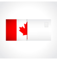 envelope with canadian flag card vector image vector image