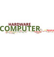 find the best computer hardware text background vector image vector image