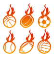 Fire sport balls vector | Price: 1 Credit (USD $1)