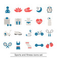 fitness and sport icons collection vector image