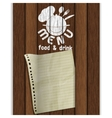 frame restaurant menu wooden boards white paint vector image