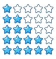 Game ice web rating stars set on white vector image vector image