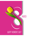 greeting card for 8 march vector image vector image