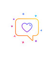 heart in speech bubble icon love symbol vector image
