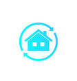home rent icon vector image