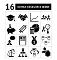 Human resources management icons set vector image