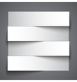 Infographics blank paper stripe banners with