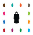 isolated protection jacket icon raincoat vector image vector image