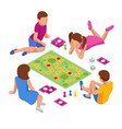isometric group creative friends sitting on the vector image