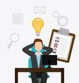 Job digital design vector image vector image