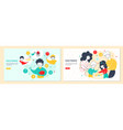 kids and money landing page template set vector image vector image