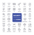 line icons set security vector image vector image
