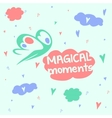Magic Moments Good mood head in the clouds vector image